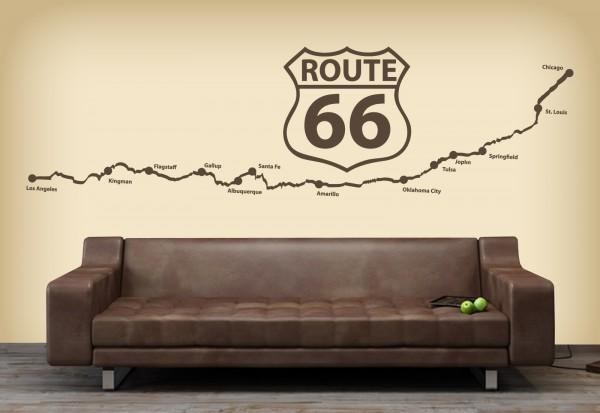 "Wandtattoo ""Route 66"""