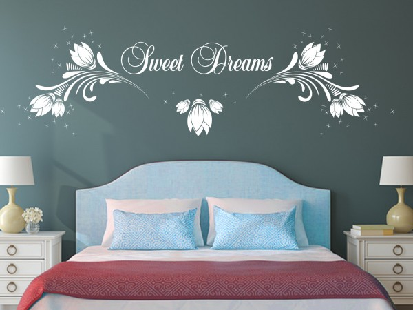 "Wandtattoo Schlafzimmer ""Sweet Dreams"""