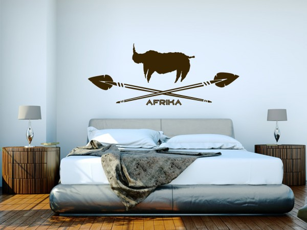Afrika-Wandtattoo Afrika Nashorn