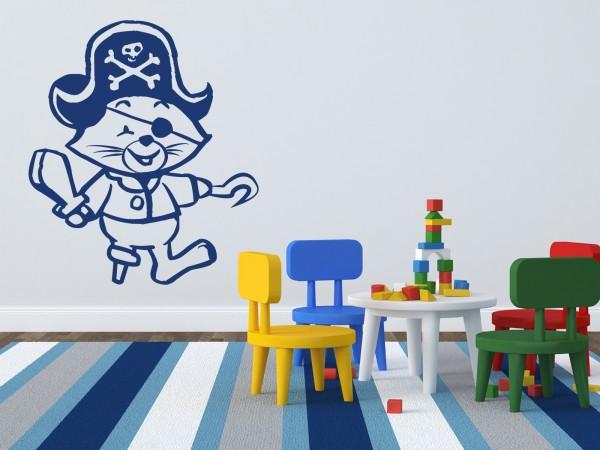 Piraten-Wandtattoo Piraten-Katze