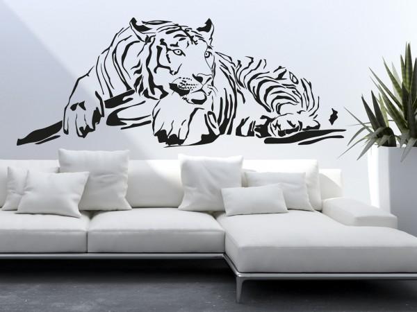 Afrika-Wandtattoo Afrikanischer Tiger
