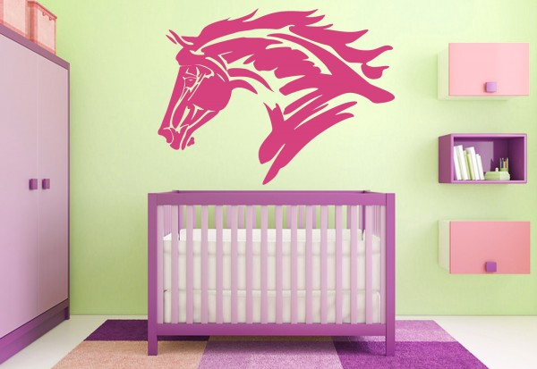 "Wandtattoo Kinderzimmer ""Pferdekopf"""