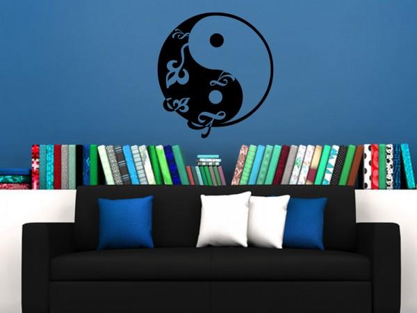 Wandtattoo - Yin Yang Muster