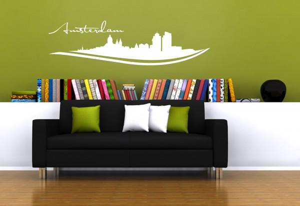 """Wandtattoo Schlafzimmer / Wohnzimmer """"Amsterdam Netherlands"""""""