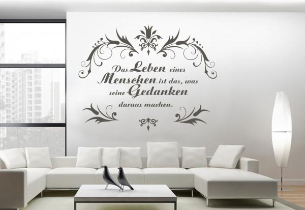 """Wandtattoo """"Leben durch Gedanken"""""""