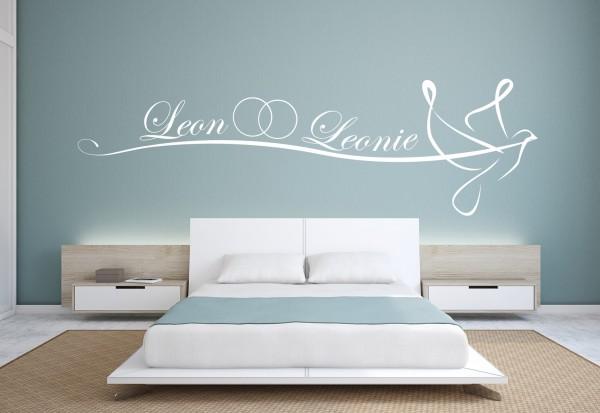 Wunschname-Wandtattoo Schlafzimmer \