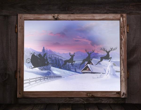 """Fenstertattoos """"Weihnachtsschlitten"""""""