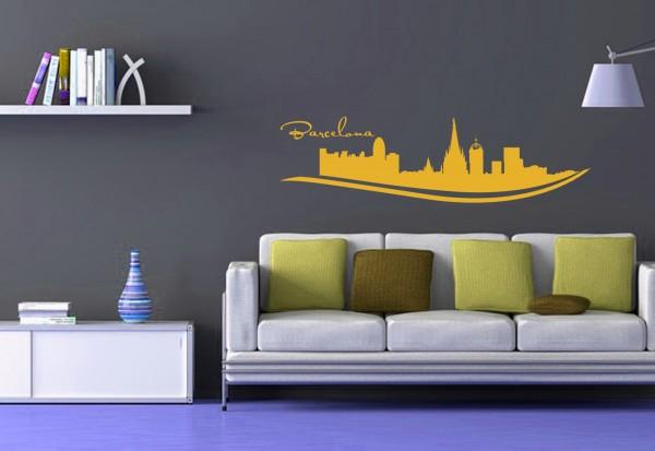 """Wandtattoo Schlafzimmer / Wohnzimmer """"Barcelona Spain"""""""