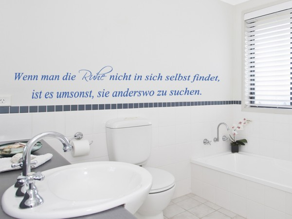 "Wandtattoo Bad & WC Wellness ""Ruhe"""