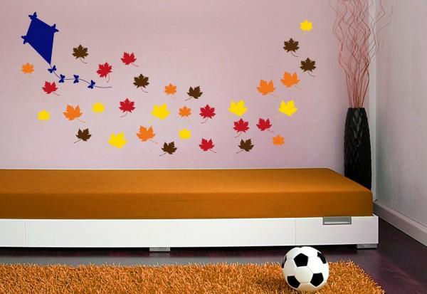 """Wandtattoo Kinderzimmer """"Drachen steigen im Herbst"""""""