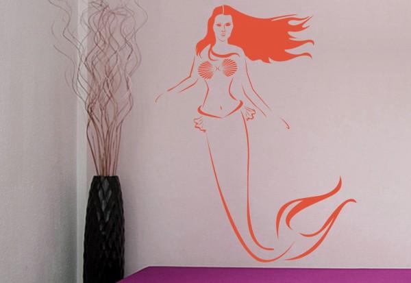 """Wandtattoo Kinderzimmer """"Meerjungfrau Bella"""""""