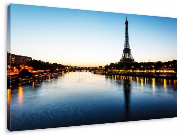 """Leinwandbild""""Paris Ufer am Eifelturm"""""""