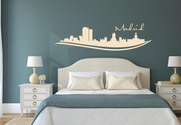 """Wandtattoo Schlafzimmer / Wohnzimmer """"Madrid Spain"""""""
