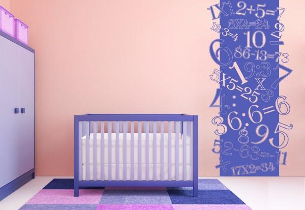 """Wandtattoo - Wandbanner Kinderzimmer """"Das kleine Einmaleins"""""""