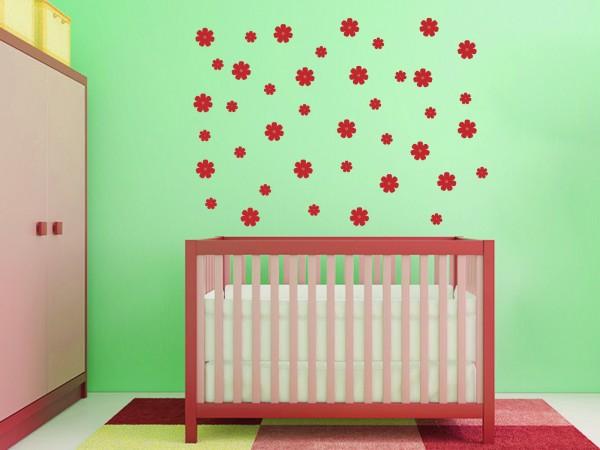 Wandtattoo - Blüten Set