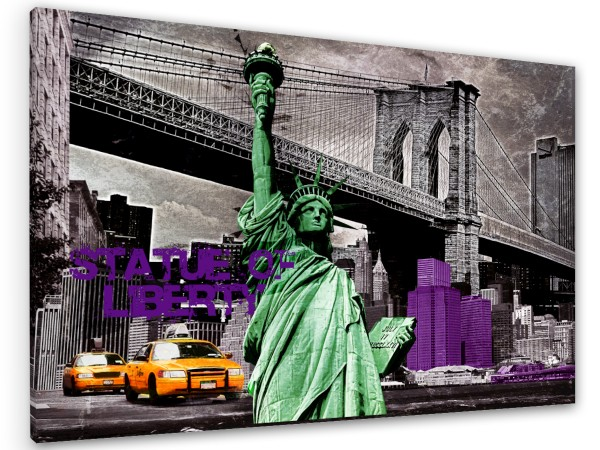 "Leinwandbild ""New York Statue of liberty Colors"""
