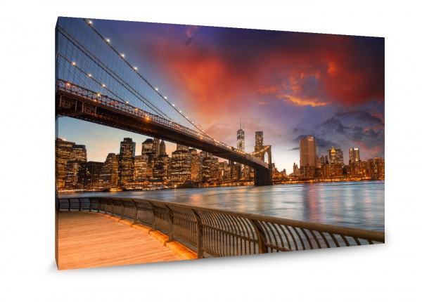 "Leinwandbild ""NY Brooklyn Lights"""