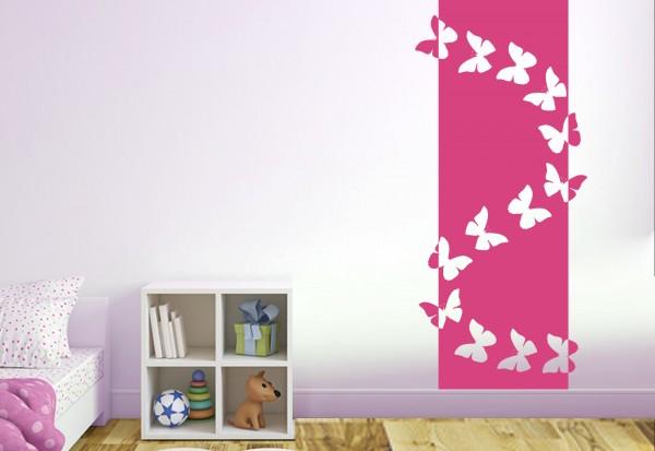 """Wandtattoo - Wandbanner Kinderzimmer """"Schmetterlingstanz"""""""