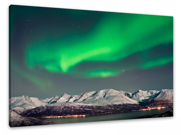 "Leinwandbild ""Polarlichter in Norwegen"""