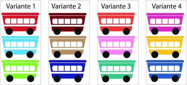 "Wandtattoo Kinderzimmer "" 3 Bunte Eisenbahnwagons Add On"""