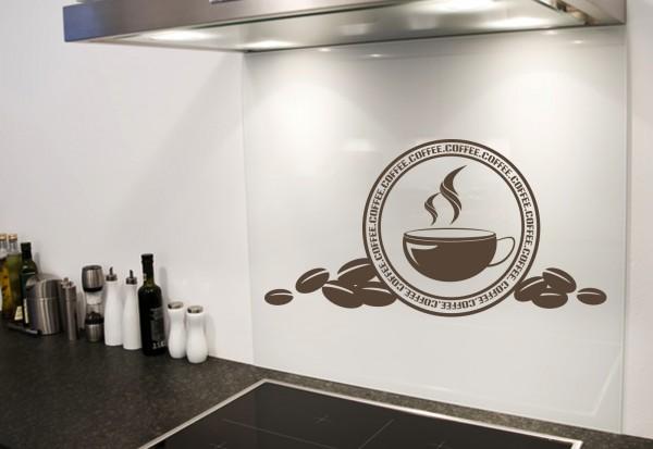 "Wandtattoo Küche ""Hot Coffee Cup"""