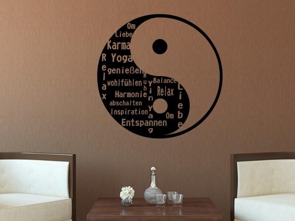 Wandtattoo Yin Yang Begriffe