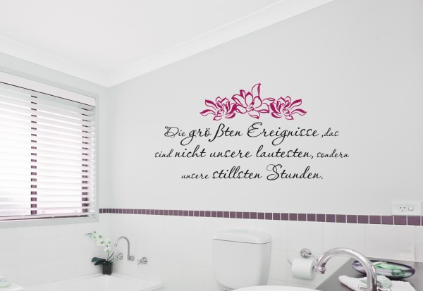 "Wandtattoo Bad & WC Wellness ""Stille Stunden"""