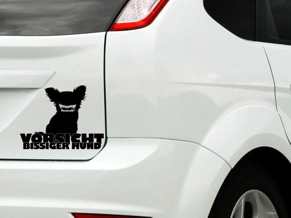 """Autoaufkleber """"Bissiger Hund"""""""