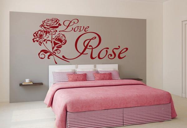 "Wandtattoo ""Love Rose"""