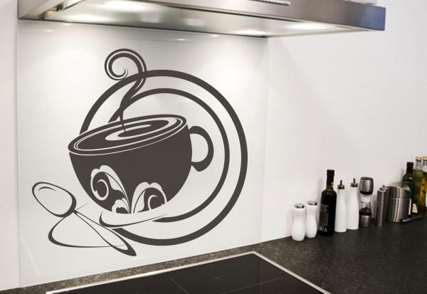 """Wandtattoo Küche """"Café au lait"""""""