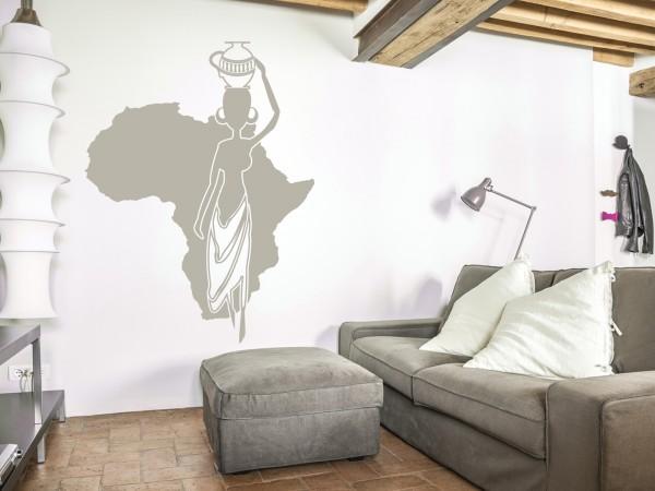 Afrika-Wandtattoo Afrikanische Frau