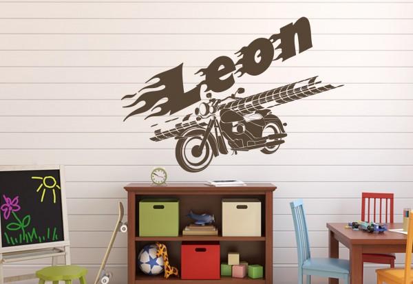 "Wunschname-Wandtattoo Kinderzimmer ""Biker"""