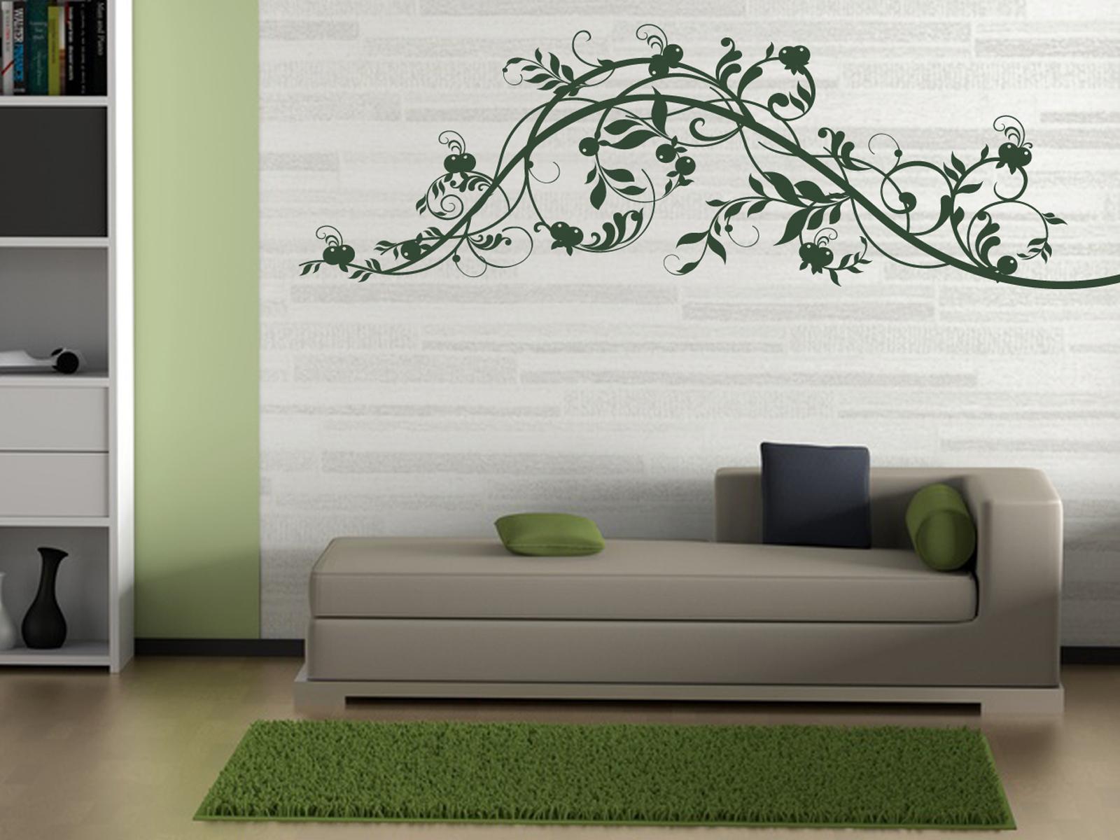 xxl wandtattoo ranke mit beeren doarts. Black Bedroom Furniture Sets. Home Design Ideas