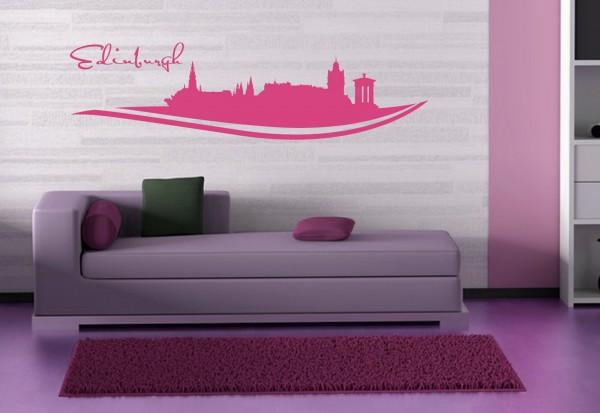 """Wandtattoo Schlafzimmer / Wohnzimmer """"Edinburgh UK"""""""