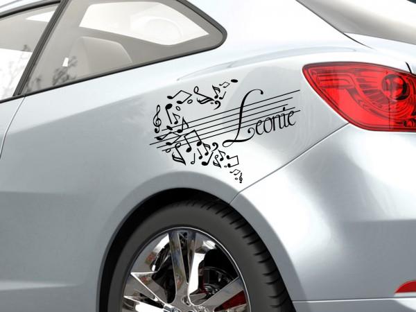 "Autoaufkleber mit Wunschnamen ""Musik-Car"""