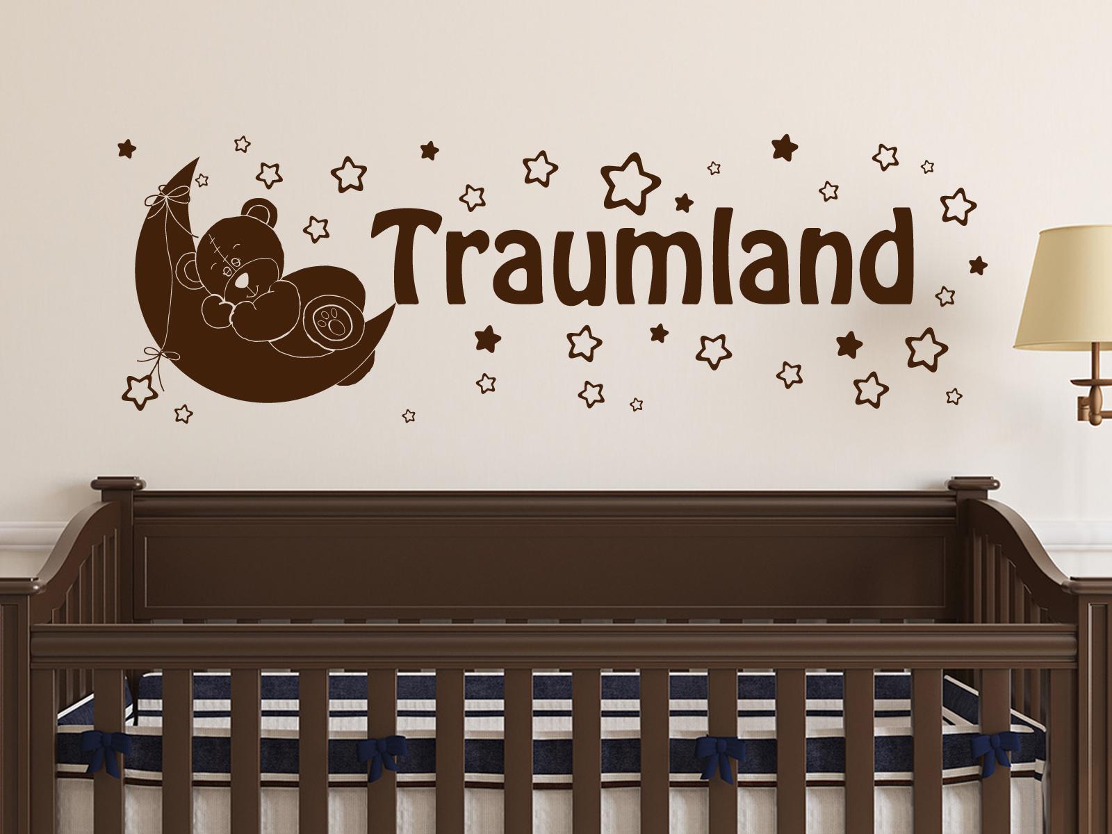 Wandtattoo Kinderzimmer Mit Mond Und Sternen Traumland Ab 17 40