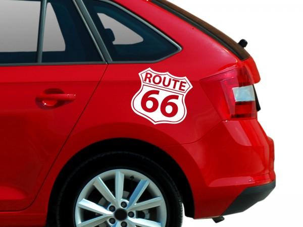 """Autoaufkleber """"Route 66 No.1"""""""