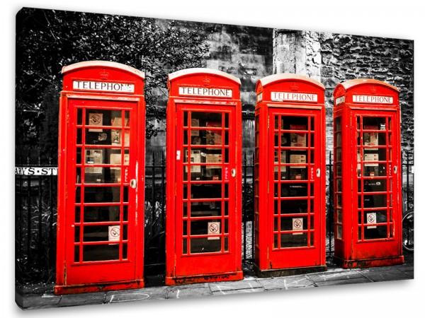 "Leinwandbild""London Telephone Boxes"""