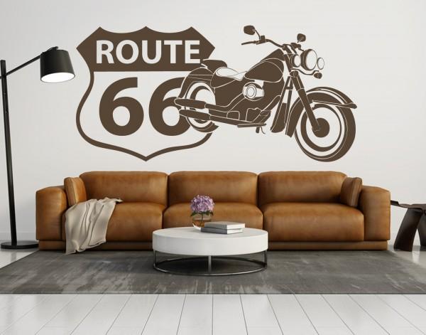 """Wandtattoo """"Route66 Harley"""""""