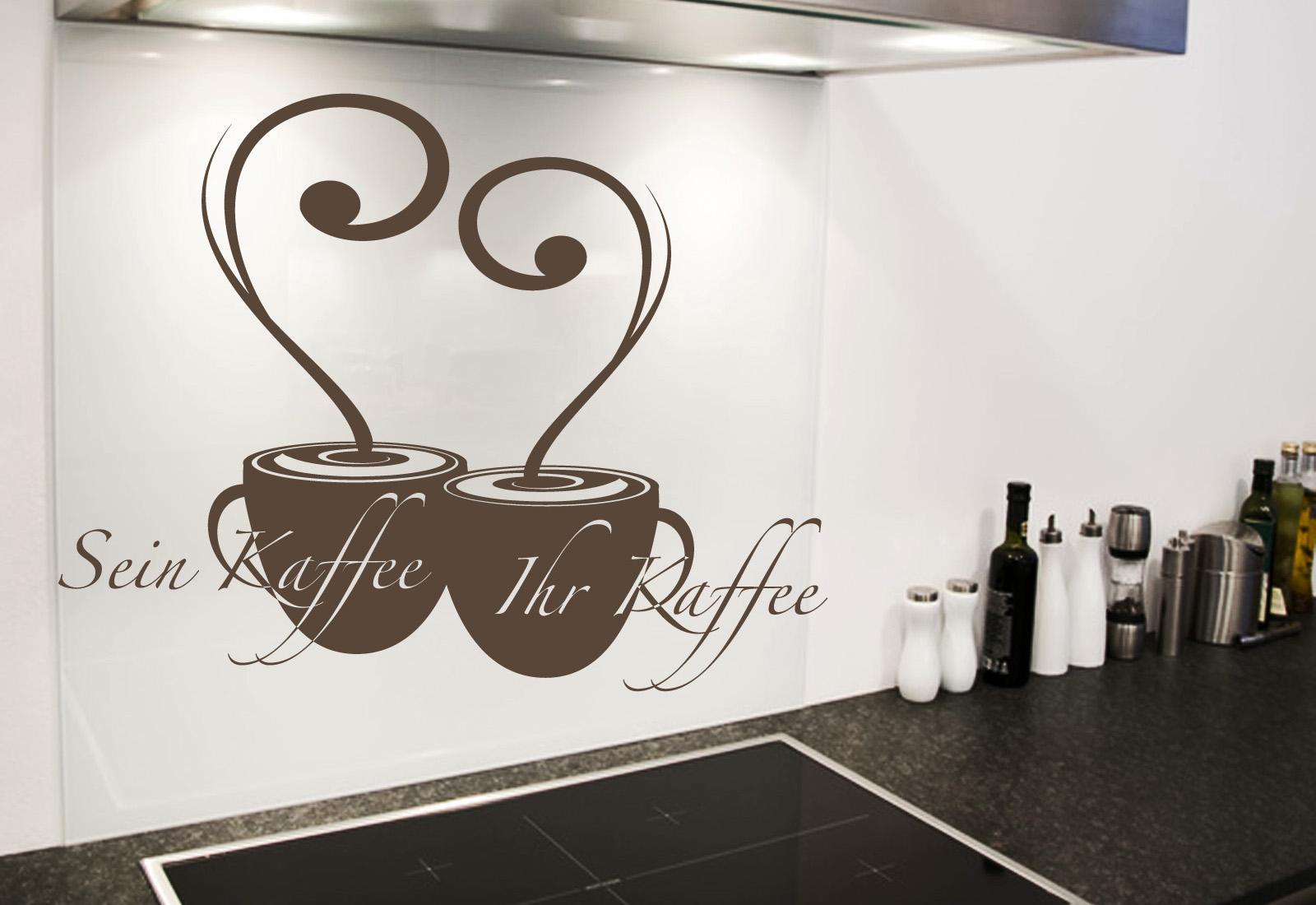 """Wandtattoo Küche """"Kaffee Für Sie Und Für Ihn"""" Ab 19,90 EUR"""