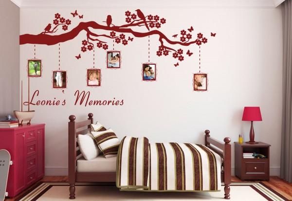 "Wunschname-Wandtattoo Kinderzimmer ""Memories"""