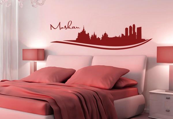 """Wandtattoo Schlafzimmer / Wohnzimmer """"Moskau Russia"""""""