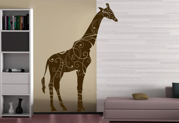 "Wandtattoo Kinderzimmer ""Giraffe"""