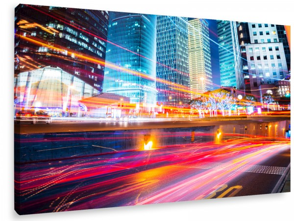 "Leinwandbild ""Modern City Night Szene"""