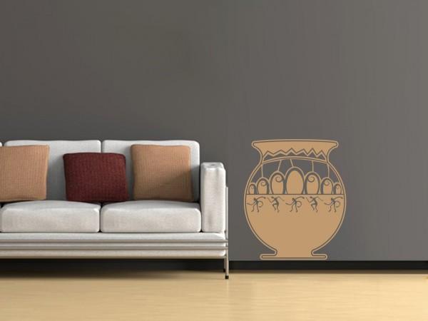 Afrika-Wandtattoo Afrikanische Vase