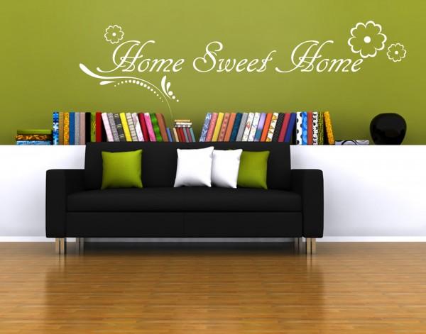 "Wandtattoo Wohnzimmer ""Home Sweet Home"""