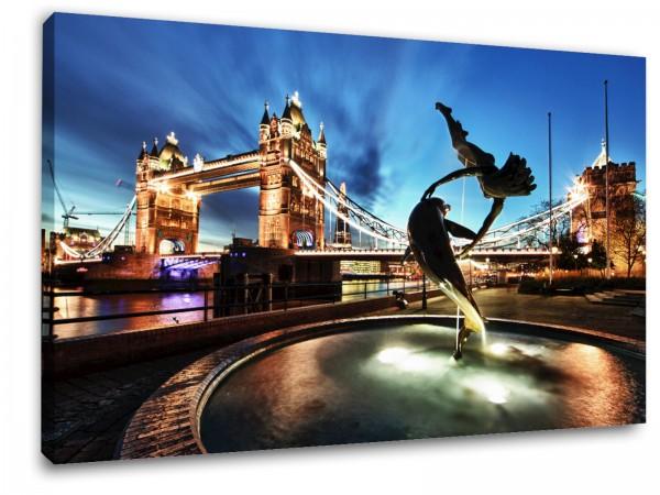 "Leinwandbild ""London Tower Bridge Fountain"""