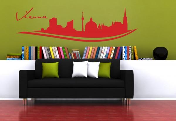 """Wandtattoo Schlafzimmer / Wohnzimmer """"Vienna Austria"""""""