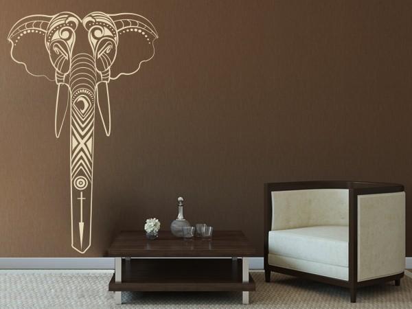 Afrika-Wandtattoo Elefanten-Maske