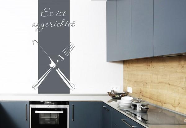 """Wandtattoo - Wandbanner Küche """"Es ist angerichtet"""""""